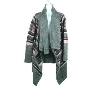 Jason Maxwell Gray Purple Cardigan Size Small